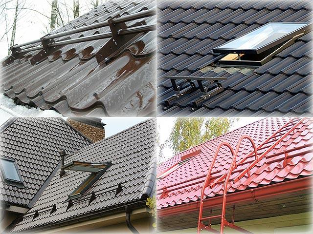 установка аксессуаров на крышу