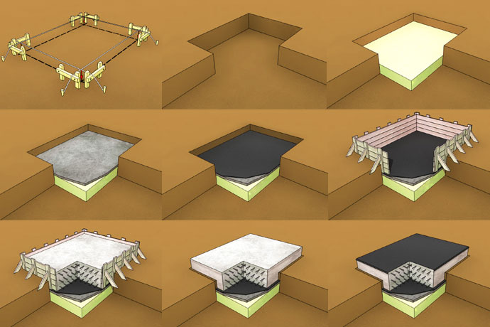 Схематическое фото выполнения основы под дом