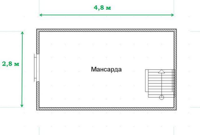 На схеме видно просторное помещение